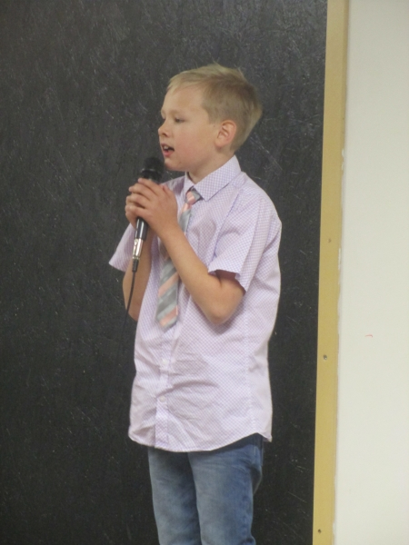 Lucas Puddefoot - talent singing solo - a first!