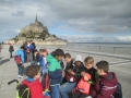 Mont St. Michel - we've spent all our euros! comparing souvenirs .